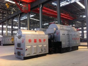 Rice Husk Fired Szl Steam Boiler pictures & photos