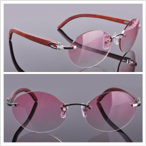 Pink Rimless Glasses : China Wood Arms Rimless Glasses Pink Lens - China Wood ...
