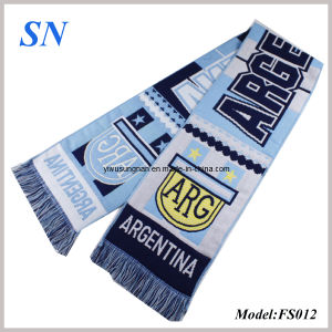 2014 Custom Knitted Acylric Sport Promotion Scarf (FS012) pictures & photos