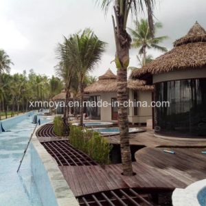 SGS Cheap Plastic Waterproof Fireproof Artificial Synthetic Fake Thatch Roof pictures & photos