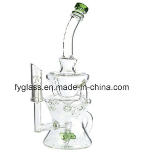 Glass Water Pipe with Propeller Recycler Glass Pipe pictures & photos