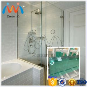 Custom Made Sale White Square & Rectangle Shower Bath Glass Screen pictures & photos