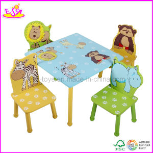 Children Desk and Chair with Animal Design (WO8G088) pictures & photos