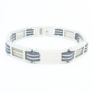 Fashion Jewellery Silicone Bracelet Stainless Steel