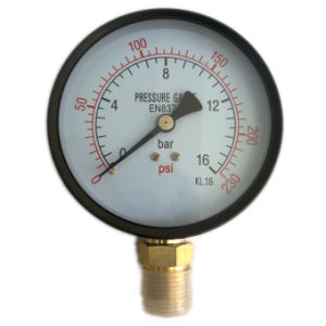 Black Steel Pressure Gauge (B-0001)
