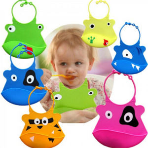 Customized Eco-Friendly Soft Silicon Bibs for Baby pictures & photos