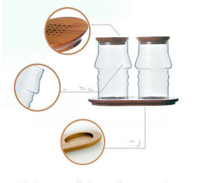 Western Style Creative Design Borosilicaate Glass Spice Jar pictures & photos