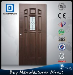 Fangda Modern Wrought Iron Door, with Insert Toughened Glass pictures & photos