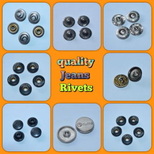 Metal Jeans Rivet, Prong Metal Brass Alloy Button and Rivet