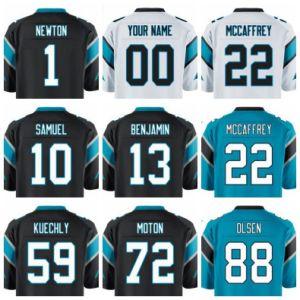 Newton Mccaffrey Kuechly Football Jersey Stitched Regular & Custom Black White Car Draft Man Women Youth