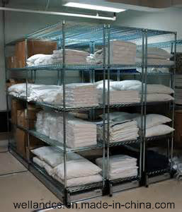 DIY Chrome Warehouse Metal Wire Shelving Storage Rack pictures & photos