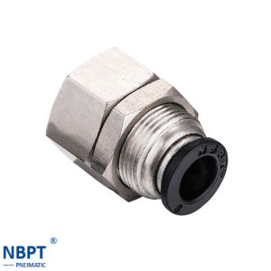 Fast Connecting Pipe Fitting Inner Screw Thread Through Fitting