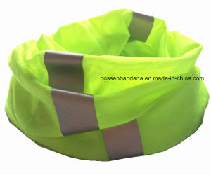 Custom Made Dyed Reflective Stripes Seamless Magic Multifunctional Neck Tube Headwear pictures & photos