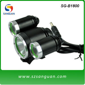 Waterproof LED Light for Bicycle 1800lumen with CE and RoHS Certificates