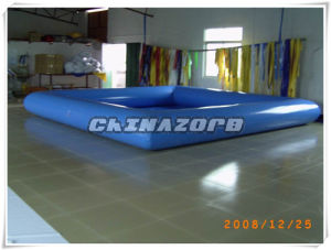 Most Popular Style Blue Color Square Shape Inflatable Swimming Pool