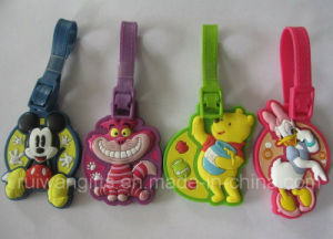 Animal Soft PVC Rubber Luggage Tag (LT039) pictures & photos