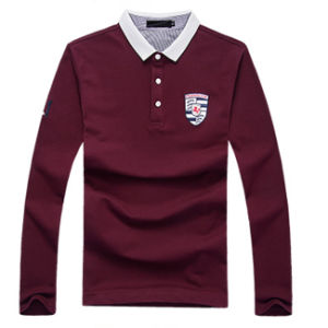 High Quality Cotton Man Long Sleeve Polo Shirt pictures & photos