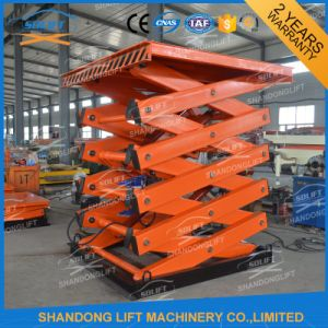 3t Hydraulic Stationary in-Ground Scissor Lift Made in China pictures & photos