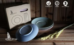 Wheat Straw Green Degradable Tableware Dish pictures & photos
