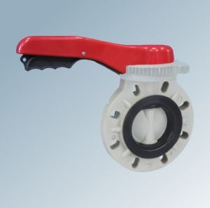 Plastic Manual Operation Butterfly Valve pictures & photos