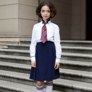 Navy Blue School Blazer and Khaki Pants for School Wear pictures & photos