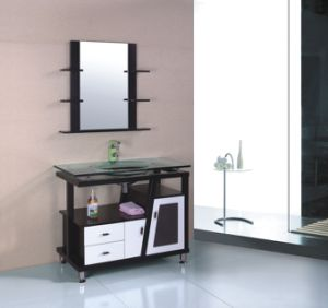 Solid Wood Bathroom Cabinet (B-613B) pictures & photos