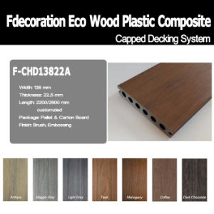 Wood Textured Plastic Wood Capped WPC Composite Decking