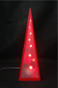 Red PVC Pyramid for LED pictures & photos