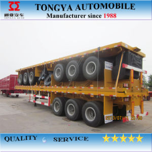 20ft and 40ft Cotainer Flatbed Semitrailer pictures & photos