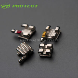 Dental Protect Orthodontic Metal Monoblock Standard/Mini Mbt Brackets pictures & photos