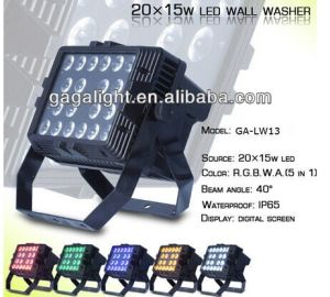 20X15W 5 in 1 RGBWA LED Outdoor Wall Washer pictures & photos