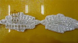 Bright Silver Base Applique Sew on Women Dress (DSC02111)