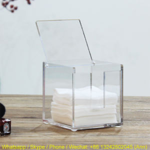 Clear Acrylic Cotton Pads Storage Box pictures & photos