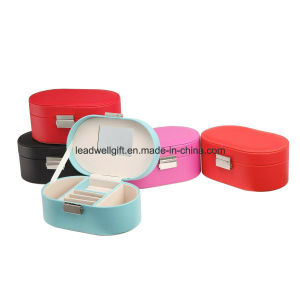 Small Faux Leather Travel Jewelry Box Organizer Display Storage Case pictures & photos