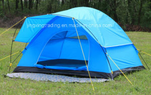 Economical Polyester Waterproof Camping Tent for 4 Persons (JX-CT021-2) pictures & photos