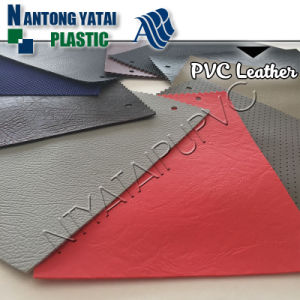 Anti-UV PVC Synthetic Leather Fabric for Auto pictures & photos