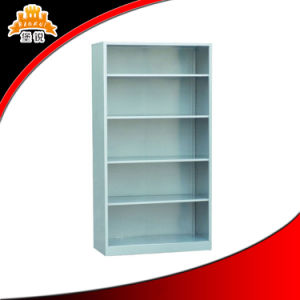 Hot-Selling School Library Furniture White Single Side Metal Bookshelf pictures & photos