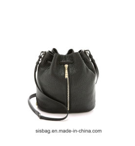 High Quality Red Color PU Leather Bucket Bag for Women pictures & photos