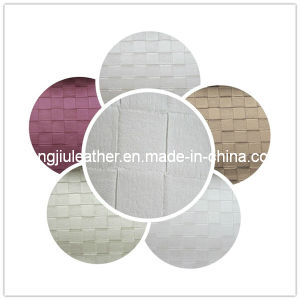 Basket Weave Pattern of PVC Leather (Hongjiu-308#) pictures & photos