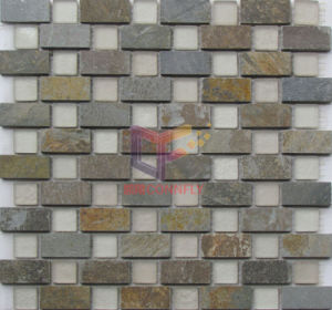 Rustic Style Stone Mix Matt Glass Mosaic Tiles (CS232) pictures & photos