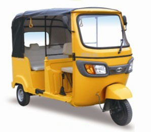 New Passenger Taxi Tricycle with 200cc Forced Air Cooled Engine and Indian Auto Rickshaw Style.