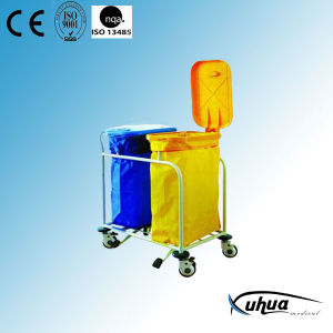 Hospital Waste Collecting Trolley with Two Bags (N-16) pictures & photos