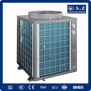 Hotel, School Heating Save70% Power Cop5.32 12kw, 19kw, 35kw, 70kw, 105kw 380V Outlet 60deg. C Air Heat Pump for Villa HVAC Systems pictures & photos