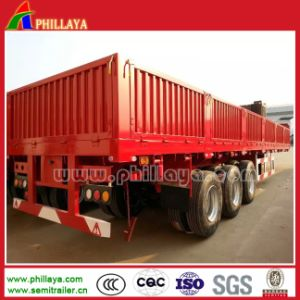 Flatbed Truck Trailer with Side Wall Pannels pictures & photos