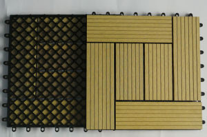 WPC Extrusion Decking/Wood Rubber Deck Tile/Swimming Pool Deck Tiles (30S30-1) pictures & photos