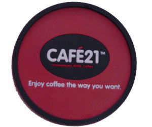 Top Quality Fashion Red Circular PVC Coaster pictures & photos