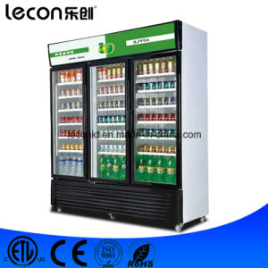 Three Glass Doors Commercial Draft Drink Display Freezer pictures & photos