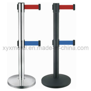 Double Tiers Twin Two Belt Retractable Barriers pictures & photos