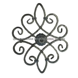 Decorative Flower Panel 11043 Wrought Iron Rosette pictures & photos