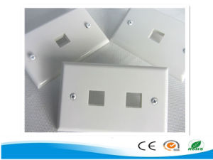 High Performance 1/2/4 Port Australia Wall Plate Cat 6 Network Face Plate pictures & photos